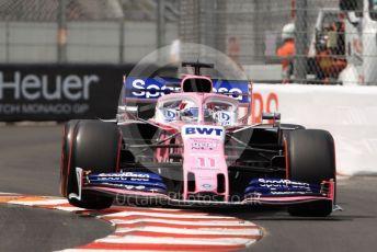 World © Octane Photographic Ltd. Formula 1 – Monaco GP. Qualifying. SportPesa Racing Point RP19 - Sergio Perez. Monte-Carlo, Monaco. Saturday 25th May 2019.