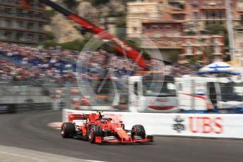World © Octane Photographic Ltd. Formula 1 – Monaco GP. Qualifying. Scuderia Ferrari SF90 – Charles Leclerc. Monte-Carlo, Monaco. Saturday 25th May 2019.