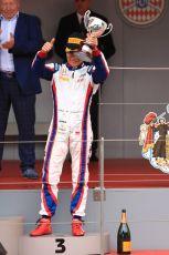 World © Octane Photographic Ltd. FIA Formula 2 (F2) – Monaco GP - Race 1 Podium. ART Grand Prix - Nyck de Vries. Monte-Carlo, Monaco. Friday 24th May 2019.