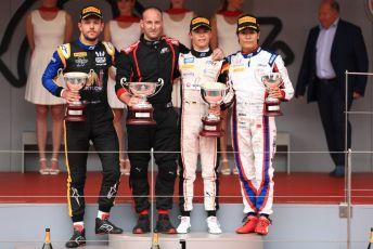 World © Octane Photographic Ltd. FIA Formula 2 (F2) – Monaco GP - Race 1 Podium. ART Grand Prix - Nyck de Vries, Virtuosi Racing - Luca Ghiotto and Carlin - Nobuharu Matsushita. Monte-Carlo, Monaco. Friday 24th May 2019.