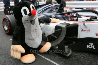 World © Octane Photographic Ltd. FIA Formula 2 (F2) – Monaco GP - Race 1. Sauber Junior Team - Callum Ilott with Little Mole mascot. Monte-Carlo, Monaco. Friday 24th May 2019.