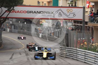 World © Octane Photographic Ltd. FIA Formula 2 (F2) – Monaco GP - Race 1. Virtuosi Racing - Luca Ghiotto. Monte-Carlo, Monaco. Friday 24th May 2019.