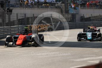 World © Octane Photographic Ltd. FIA Formula 2 (F2) – Monaco GP - Race 2. MP Motorsport - Mahaveer Raghunathan and DAMS - Nicholas Latifi. Monte-Carlo, Monaco. Saturday 25th May 2019.