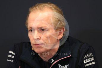 World © Octane Photographic Ltd. Formula 1 - Monaco GP. Thursday FIA Team Press Conference. Andy Stevenson – Sporting Director at SportPesa Racing Point. Monte-Carlo, Monaco. Thursday 23rd May 2019.