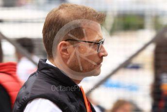 World © Octane Photographic Ltd. Formula 1 - Monaco GP. Paddock. Andreas Seidl, Team Principle at McLaren. Monte-Carlo, Monaco. Sunday 26th May 2019.