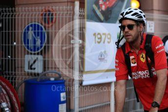 World © Octane Photographic Ltd. Formula 1 – Monaco GP. Paddock. Scuderia Ferrari SF90 – Sebastian Vettel. Monte-Carlo, Monaco. Thursday 23rd May 2019.