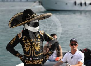 World © Octane Photographic Ltd. Formula 1 – Monaco GP. Paddock. Mario Achi, Mexican legend and ambassador of the 2019 Mexican GP. Monte-Carlo, Monaco. Thursday 23rd May 2019.