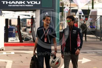 World © Octane Photographic Ltd. Formula 1 – Monaco GP. Paddock. SportPesa Racing Point RP19 - Sergio Perez. Monte-Carlo, Monaco. Thursday 23rd May 2019.