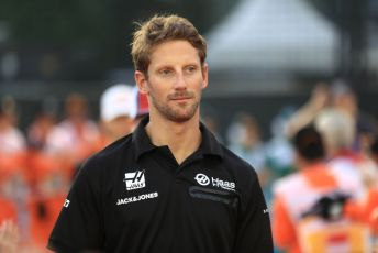 World © Octane Photographic Ltd. Formula 1 – Singapore GP - Drivers Parade. Haas F1 Team VF19 – Romain Grosjean. Marina Bay Street Circuit, Singapore. Sunday 22nd September 2019.