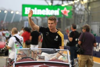 World © Octane Photographic Ltd. Formula 1 – Singapore GP - Drivers Parade. Renault Sport F1 Team RS19 – Nico Hulkenberg. Marina Bay Street Circuit, Singapore. Sunday 22nd September 2019.