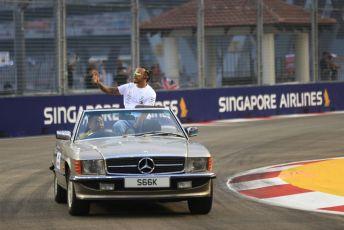 World © Octane Photographic Ltd. Formula 1 – Singapore GP - Drivers Parade. Mercedes AMG Petronas Motorsport AMG F1 W10 EQ Power+ - Lewis Hamilton. Marina Bay Street Circuit, Singapore. Sunday 22nd September 2019.
