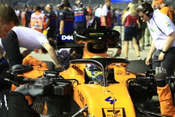 World © Octane Photographic Ltd. Formula 1 – Singapore GP - Grid. McLaren MCL34 – Lando Norris. Marina Bay Street Circuit, Singapore. Sunday 22nd September 2019.