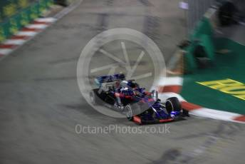 World © Octane Photographic Ltd. Formula 1 – Singapore GP - Practice 2. Scuderia Toro Rosso STR14 – Daniil Kvyat. Marina Bay Street Circuit, Singapore. Friday 20th September 2019.