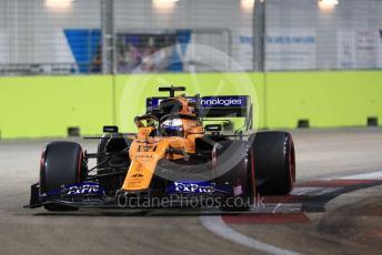 World © Octane Photographic Ltd. Formula 1 – Singapore GP - Qualifying. McLaren MCL34 – Carlos Sainz. Marina Bay Street Circuit, Singapore. Saturday 21st September 2019.