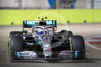 World © Octane Photographic Ltd. Formula 1 – Singapore GP - Qualifying. Mercedes AMG Petronas Motorsport AMG F1 W10 EQ Power+ - Valtteri Bottas. Marina Bay Street Circuit, Singapore. Saturday 21st September 2019.