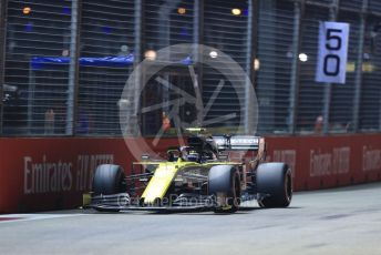 World © Octane Photographic Ltd. Formula 1 – Singapore GP - Qualifying. Renault Sport F1 Team RS19 – Nico Hulkenberg. Marina Bay Street Circuit, Singapore. Saturday 21st September 2019.