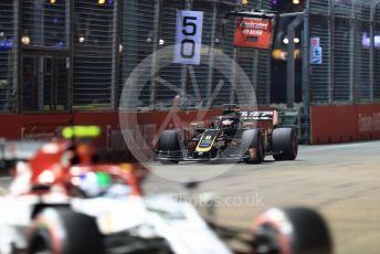 World © Octane Photographic Ltd. Formula 1 – Singapore GP - Qualifying. Haas F1 Team VF19 – Romain Grosjean. Marina Bay Street Circuit, Singapore. Saturday 21st September 2019.