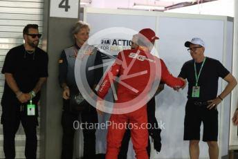 World © Octane Photographic Ltd. Formula 1 – Singapore GP - Qualifying. Scuderia Ferrari SF90 – Charles Leclerc and Swedish House Mafia. Marina Bay Street Circuit, Singapore. Saturday 21st September 2019.