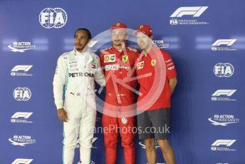 World © Octane Photographic Ltd. Formula 1 – Singapore GP - Qualifying. Scuderia Ferrari SF90 – Charles Leclerc, Mercedes AMG Petronas Motorsport AMG F1 W10 EQ Power+ - Lewis Hamilton and Sebastian Vettel. . Marina Bay Street Circuit, Singapore. Saturday 21st September 2019.