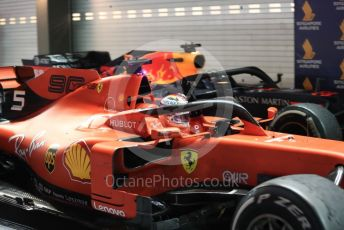 World © Octane Photographic Ltd. Formula 1 – Singapore GP - Race Podium. Scuderia Ferrari SF90 – Sebastian Vettel. Marina Bay Street Circuit, Singapore. Sunday 22nd September 2019.