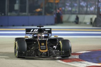 World © Octane Photographic Ltd. Formula 1 – Singapore GP - Race. Haas F1 Team VF19 – Romain Grosjean. Marina Bay Street Circuit, Singapore. Sunday 22nd September 2019.
