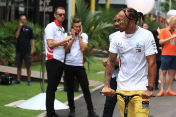 World © Octane Photographic Ltd. Formula 1 – Singapore GP - Paddock. Mercedes AMG Petronas Motorsport AMG F1 W10 EQ Power+ - Lewis Hamilton. Marina Bay Street Circuit, Singapore. Friday 20th September 2019.