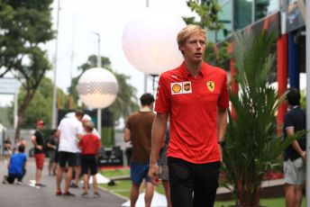 World © Octane Photographic Ltd. Formula 1 - Singapore GP - Paddock. Brendon Hartley - test and simulator driver for Scuderia Ferrari. Marina Bay Street Circuit, Singapore. Friday 20th September 2019.