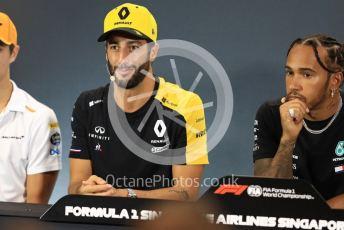 World © Octane Photographic Ltd. Formula 1 – Singapore GP. FIA Drivers Press Conference. Renault Sport F1 Team – Daniel Ricciardo. Marina Bay Street Circuit, Singapore. Thursday 19th September 2019.