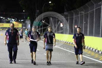 World © Octane Photographic Ltd. Formula 1 – Singapore GP - Track Walk. SportPesa Racing Point RP19 – Lance Stroll. Marina Bay Street Circuit, Singapore. Thursday 19th September 2019.