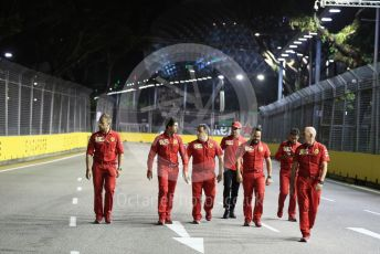 World © Octane Photographic Ltd. Formula 1 – Singapore GP - Track Walk. Scuderia Ferrari SF90 – Charles Leclerc. Marina Bay Street Circuit, Singapore. Thursday 19th September 2019.