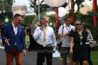 World © Octane Photographic Ltd. Formula 1 - Singapore GP - Paddock. Chase Carey - Chief Executive Officer of the Formula One Group. Marina Bay Street Circuit, Singapore. Thursday 19th September 2019.
