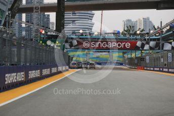 World © Octane Photographic Ltd. Formula 1 – Singapore GP - Paddock. View to turn 1. Marina Bay Street Circuit, Singapore. Thursday 19th September 2019.