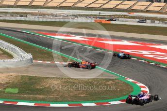 World © Octane Photographic Ltd. Formula 1 – Spanish In-season testing. Aston Martin Red Bull Racing RB15 – Daniel Ticktum stops on circuit. Circuit de Barcelona Catalunya, Spain. Wednesday 15th May 2019.