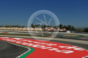 World © Octane Photographic Ltd. Formula 1 – Spanish Pirelli In-season testing. Circuit de Barcelona writing on the circuit. Circuit de Barcelona Catalunya, Spain. Wednesday 15th May 2019.
