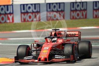 World © Octane Photographic Ltd. Formula 1 – Spanish GP. Practice 1. Scuderia Ferrari SF90 – Sebastian Vettel. Circuit de Barcelona Catalunya, Spain. Friday 10th May 2019.