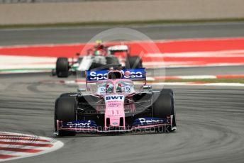 World © Octane Photographic Ltd. Formula 1 – Spanish GP. Practice 2. SportPesa Racing Point RP19 - Sergio Perez. Circuit de Barcelona Catalunya, Spain. Friday 10th May 2019.