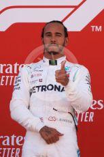 World © Octane Photographic Ltd. Formula 1 – Spanish GP. Podium. Mercedes AMG Petronas Motorsport AMG F1 W10 EQ Power+ - Lewis Hamilton. Circuit de Barcelona Catalunya, Spain. Sunday 12th May 2019.