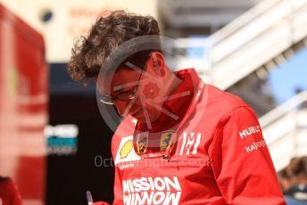 World © Octane Photographic Ltd. Formula 1 – Spanish GP. Parc Ferme. Mattia Binotto – Team Principal of Scuderia Ferrari. Circuit de Barcelona Catalunya, Spain. Sunday 12th May 2019.