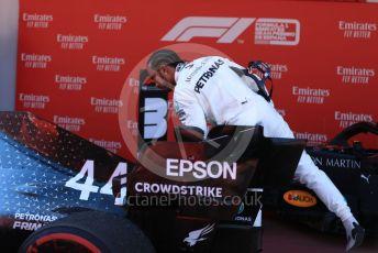 World © Octane Photographic Ltd. Formula 1 – Spanish GP. Parc Ferme. Mercedes AMG Petronas Motorsport AMG F1 W10 EQ Power+ - Lewis Hamilton. Circuit de Barcelona Catalunya, Spain. Sunday 12th May 2019.