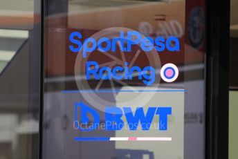 World © Octane Photographic Ltd. Formula 1 – Spanish GP. Thursday Setup. SportPesa Racing Point logo Circuit de Barcelona Catalunya, Spain. Thursday 9th May 2019.