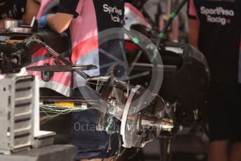 World © Octane Photographic Ltd. Formula 1 – Spanish GP. Thursday Setup. SportPesa Racing Point RP19. Circuit de Barcelona Catalunya, Spain. Thursday 9th May 2019.