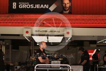 World © Octane Photographic Ltd. Formula 1 – Spanish GP. Thursday Setup. Rich Energy Haas F1 Team VF19 – Romain Grosjean. Circuit de Barcelona Catalunya, Spain. Thursday 9th May 2019.