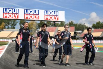 World © Octane Photographic Ltd. Formula 1 – Spanish GP. Thursday Track walk. SportPesa Racing Point RP19 – Lance Stroll. Circuit de Barcelona Catalunya, Spain. Thursday 9th May 2019.