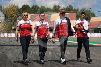 World © Octane Photographic Ltd. Formula 1 – Spanish GP. Thursday Track walk. Alfa Romeo Racing C38 – Antonio Giovinazzi. Circuit de Barcelona Catalunya, Spain. Thursday 9th May 2019.