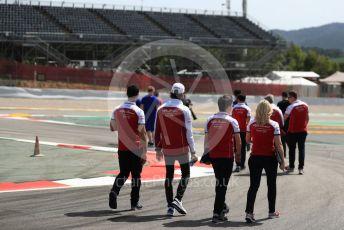 World © Octane Photographic Ltd. Formula 1 – Spanish GP. Thursday Track walk. Alfa Romeo Racing C38 – Antonio Giovinazzi. Circuit de Barcelona Catalunya, Spain. Thursday 9th May 2019.
