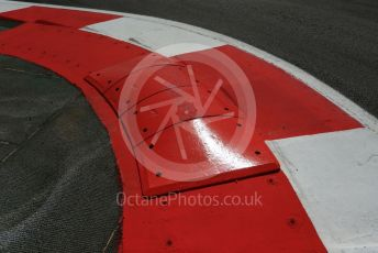 World © Octane Photographic Ltd. Formula 1 – Spanish GP. Thursday Track walk. New raised kerb. Circuit de Barcelona Catalunya, Spain. Thursday 9th May 2019.