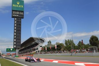 World © Octane Photographic Ltd. Formula 1 – Spanish GP. Qualifying. SportPesa Racing Point – Lance Stroll. Circuit de Barcelona Catalunya, Spain. Saturday 11th May 2019.