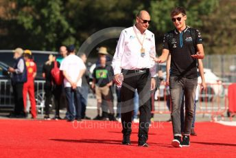 World © Octane Photographic Ltd. Formula 1 – Spanish GP. Paddock. ROKiT Williams Racing – George Russell. Circuit de Barcelona Catalunya, Spain. Saturday 11thth May 2019.