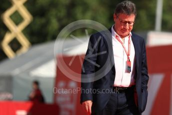 World © Octane Photographic Ltd. Formula 1 - Spanish GP. Paddock. Louis Camilleri - CEO of Ferrari and former Chairman of Philip Morris International. Circuit de Barcelona Catalunya, Spain. Saturday 11th May 2019.