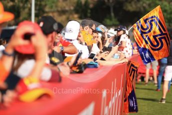 World © Octane Photographic Ltd. Formula 1 – Spanish GP. Paddock. McLaren MCL34 – Carlos Sainz fans. Circuit de Barcelona Catalunya, Spain. Sunday 12th May 2019.